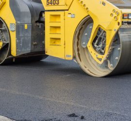 City is making street maintenance, laying down a fresh layer of asphalt